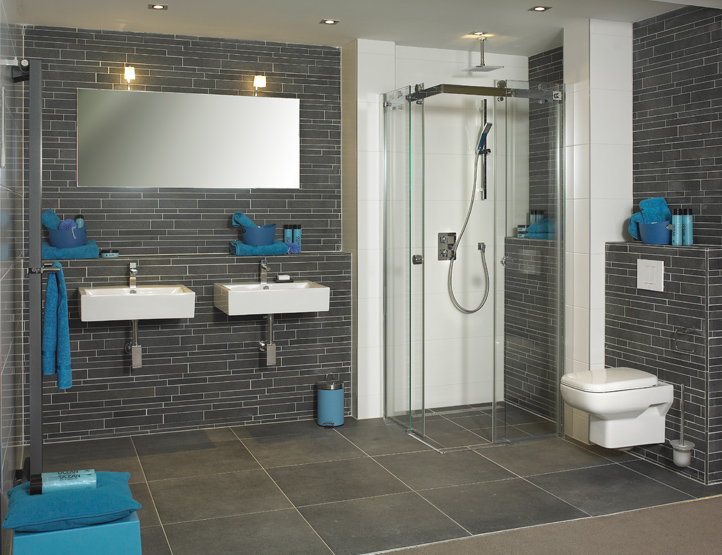 Badkamers fontein hoevelaken - Badkamer foto met douche ...